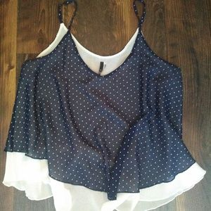 Layer Polka Dot Tank Top